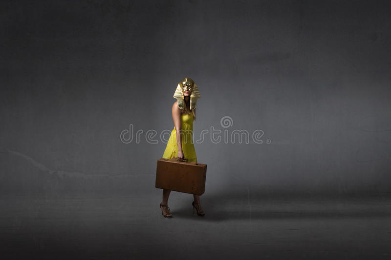 Emigration concept for egyptian legend stock photography
