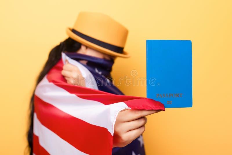 Emigration till USA arkivbild