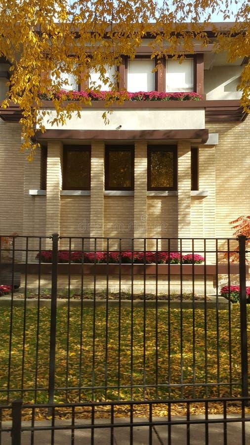 Emil Bach House, Chicago & x28; Frank Lloyd Wright & x29; imagens de stock royalty free