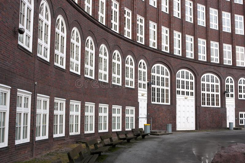 Emil Krause Grammar School - II - Hambourg - l'Allemagne photographie stock libre de droits