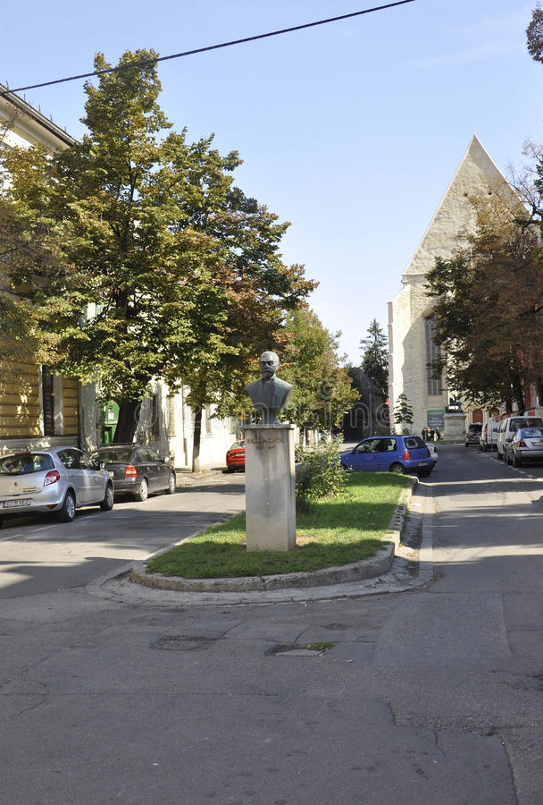 Emil Racovita Monument from Cluj-Napoca from Transylvania in Romania stock photography