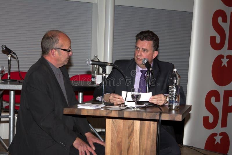 Emile Roemer ad una riunione del partito in Meppel fotografia stock