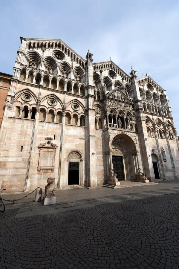emilia katedralny romagna Ferrara Italy obrazy stock