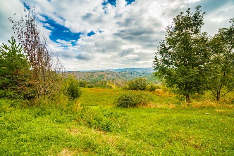 Emilia Romagna, l'Italie, les caniveaux et la campagne photo libre de droits