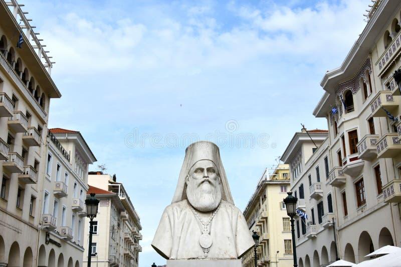 Emilianos Lazaridi雕象在塞萨罗尼基 图库摄影