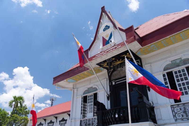 Emilio Aguinaldo Shrine i Kawit, Cavite, Filippinerna royaltyfria bilder