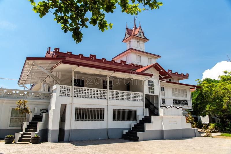 Emilio Aguinaldo Shrine i Kawit, Cavite, Filippinerna royaltyfria foton