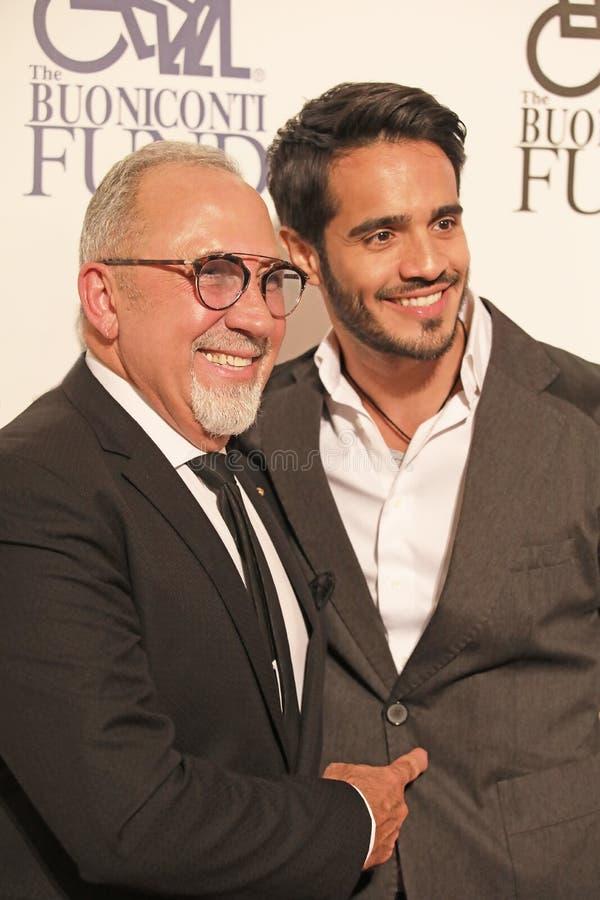 Emilio Estefan et Ektor Rivera image stock