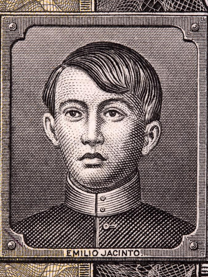 Emilio Jacinto stående arkivbild
