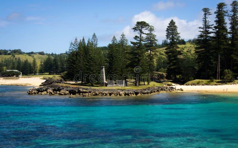 Emily Bay, Île Norfolk photo libre de droits