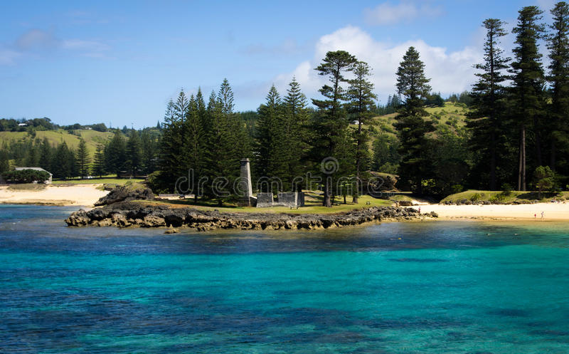 Emily Bay, isla de Norfolk foto de archivo libre de regalías