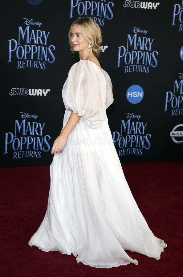 Emily Blunt royalty-vrije stock afbeeldingen