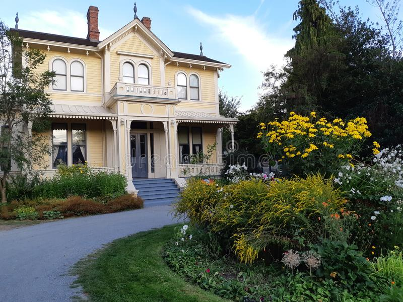 Emily Carr House, a Victorian style house in Victoria stock images