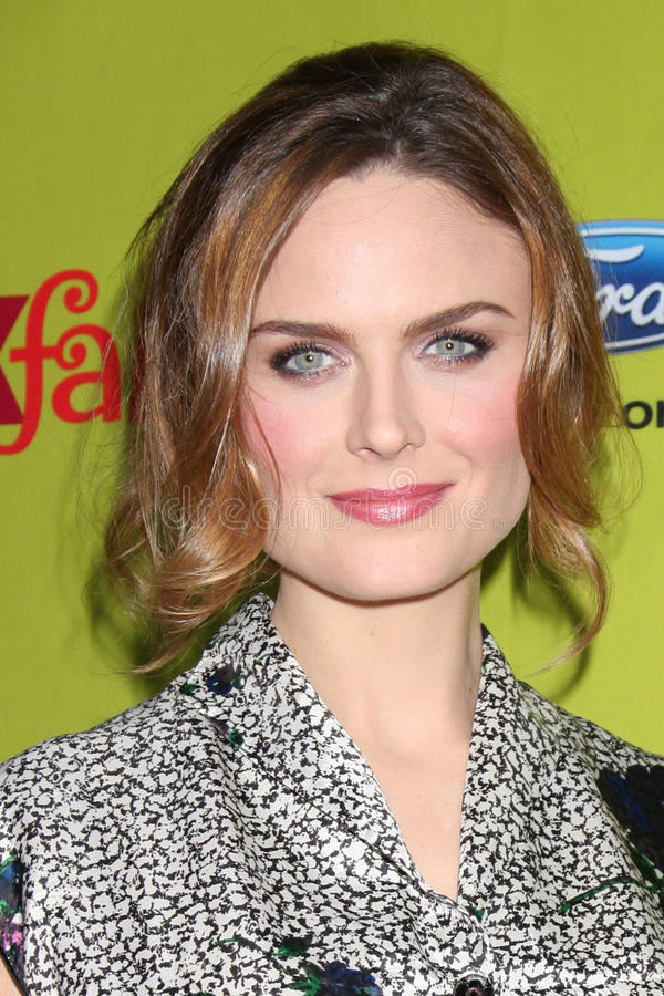 Emily Deschanel. Arriving at the FOX-Fall Eco-Casino Party at BOA Steakhouse in West Los Angeles, CA on September 14, 2009 stock image