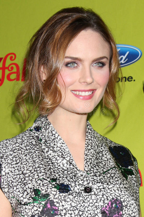 Emily Deschanel. Arriving at the FOX-Fall Eco-Casino Party at BOA Steakhouse in West Los Angeles, CA on September 14, 2009 royalty free stock image