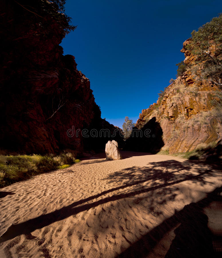 Emily Gaps. Emily and Jessie Gaps are the first noticeable features of the East MacDonnell Ranges as you drive 10 kilometres out of Alice Springs. Pack a picnic stock photos