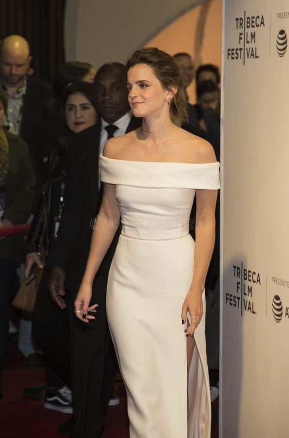 Emily Watson à la première 2017 de festival de film de Tribeca du ` le ` de cercle photographie stock libre de droits
