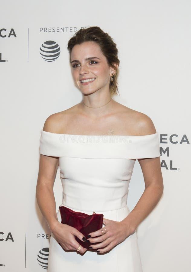 Emily Watson bij de Première van het de Filmfestival van Tribeca van 2017 van ` de Cirkel ` stock fotografie