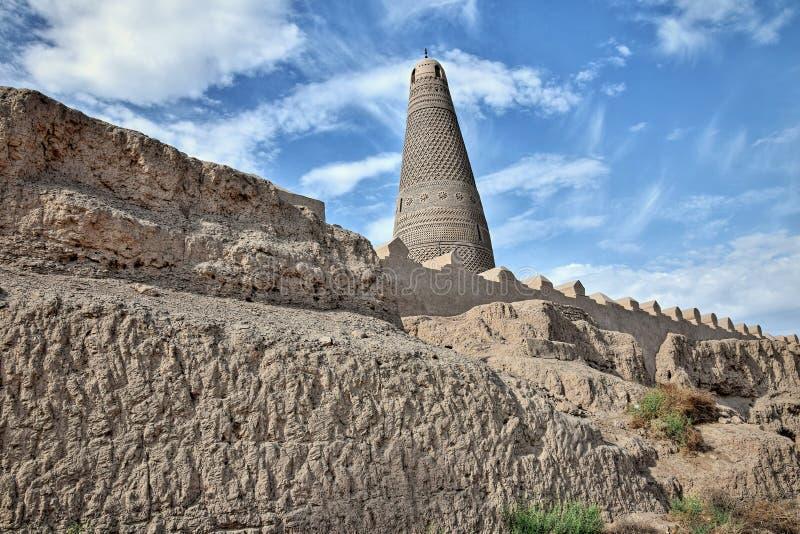 Emin Minaret à Turpan en région autonome d'Uighur du Xinjiang de la Chine photographie stock