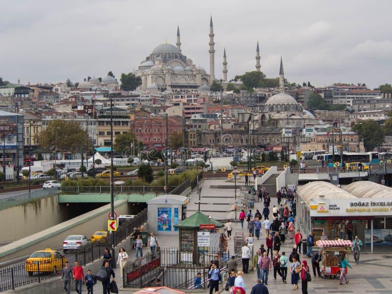 Eminonu w Istanbuł, Turcja zdjęcie royalty free