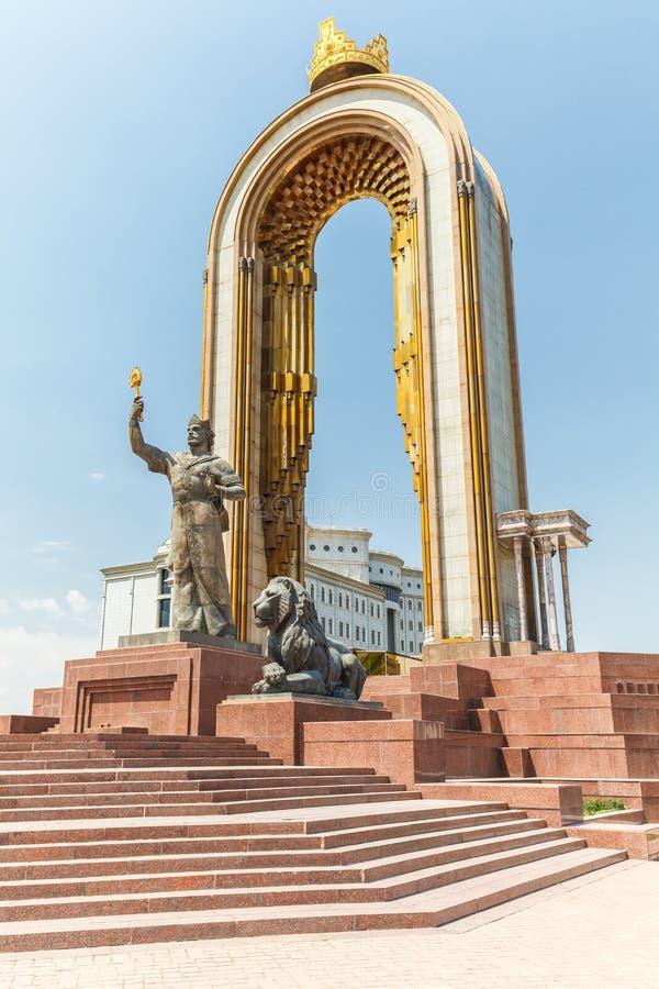 Emira Ismail Samani kwadrat w Dushanbe obrazy royalty free