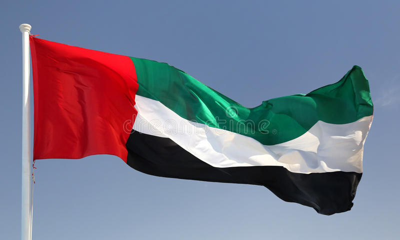 emirat najważniejszym arabskiej flagę obraz stock