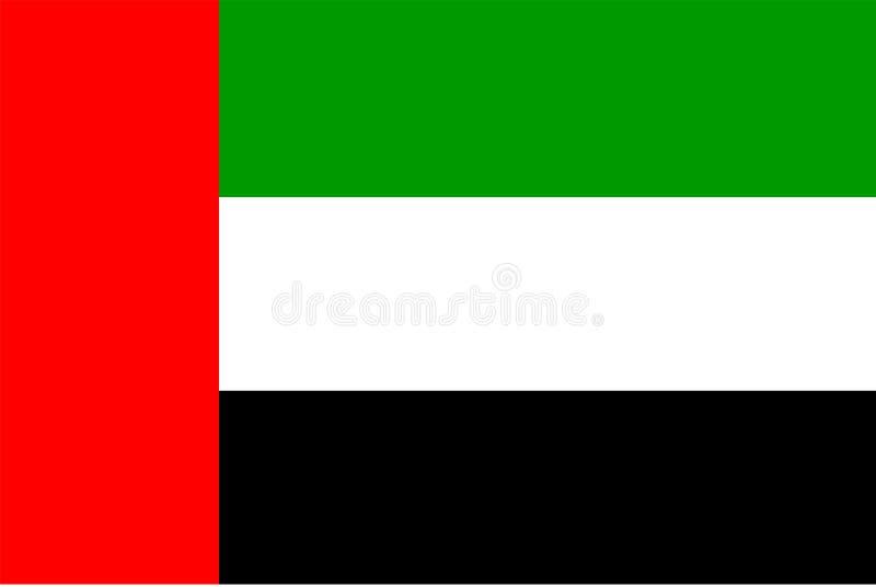 emirat najważniejszym arabskiej flagę ilustracja wektor
