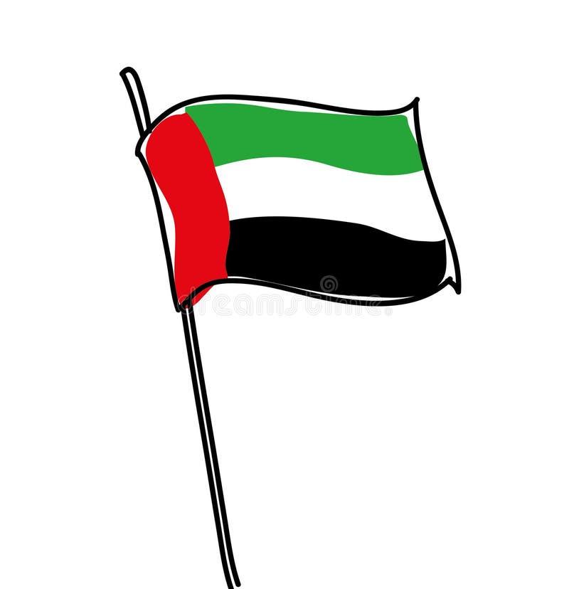 emirat najwa?niejszym arabskiej flag? fotografia stock