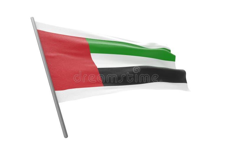 emirat najwa?niejszym arabskiej flag? zdjęcie royalty free