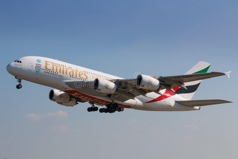 A380 Emiraten royalty-vrije stock foto's