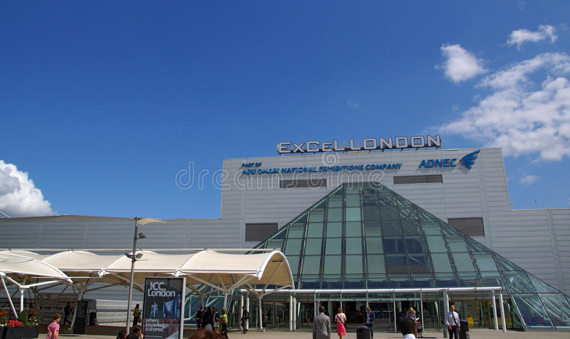 The ExCel Centre the. The huge ExCel exhibition centre in London royalty free stock image