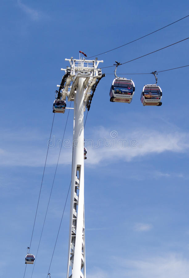 Emirates Air Line cable car, London royalty free stock photos