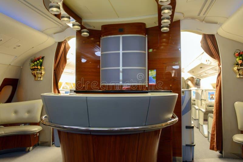 Emirates Airbus A380 Aircraft Business Class Interior Editorial