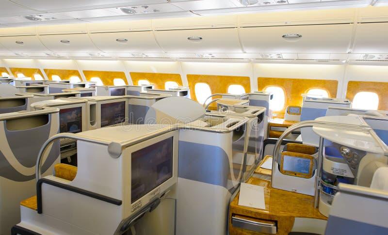 Emirates Airbus A380 Business Class Interior Editorial