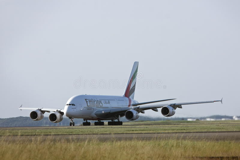 Emirates Airlines Airbus A380 on the runway