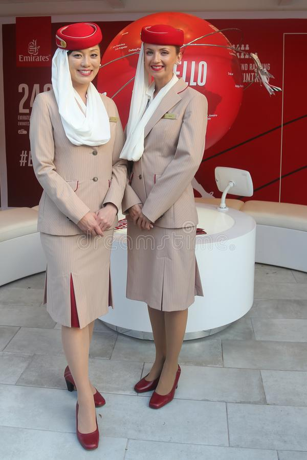 Emirates Airlines Flight Attendants At The Emirates
