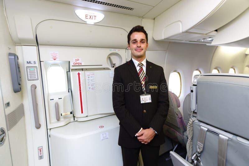 Emirates crew member royalty free stock photos