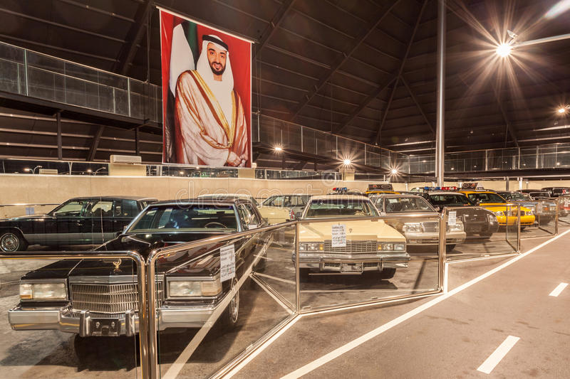 Emirates National Auto Museum in Abu Dhabi. ABU DHABI - DEC 22: Cars Collection at the Emirates National Auto Museum in Abu Dhabi. December 22, 2014 in Abu Dhabi royalty free stock photo