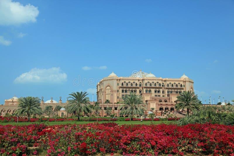 Emirates Palace in Dubai UAE. Beautiful view of the Emirates Palace luxury stay in Dubai UAE stock photo