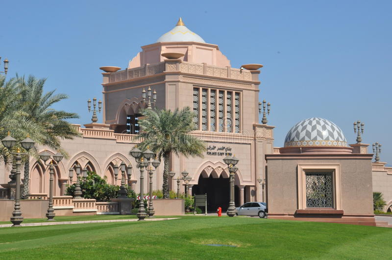 Emirates Palace Hotel in Abu Dhabi, UAE. It is a 7-star hotel built by and owned by the Abu Dhabi government. It is currently managed by the Kempinski Group stock photo