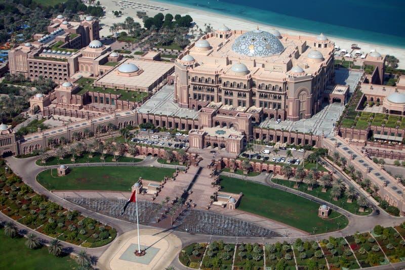 Emirates Palace Hotel in Abu Dhabi stock photo