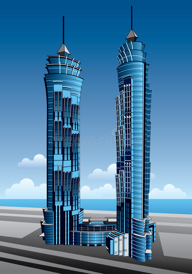 Download Emirates Park Towers editorial stock image. Illustration of complex - 13100834