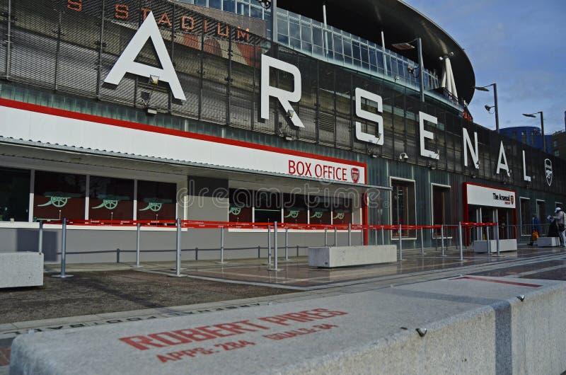 Emirates Stadium-Ansicht lizenzfreie stockfotografie