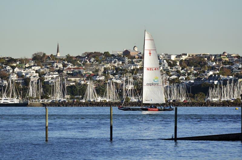 Emirates Team New Zealand sail boat royalty free stock photography