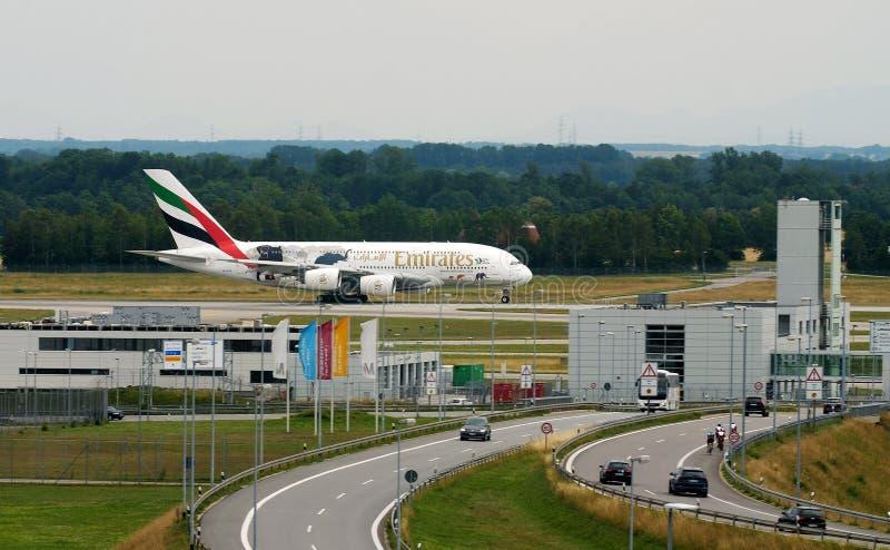 Emirates A380 United for Wildlife livery fotografia stock libera da diritti