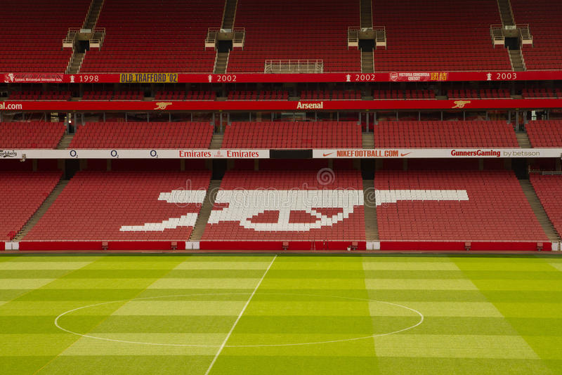Emiratfußballstadion lizenzfreies stockbild