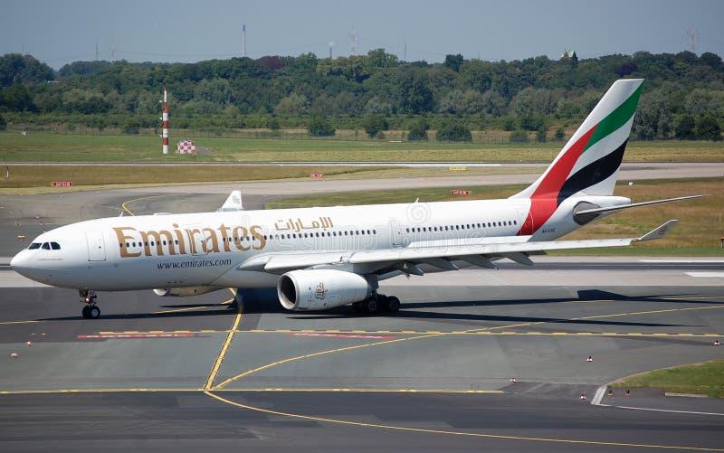 Emirats Airbus 330 photos libres de droits