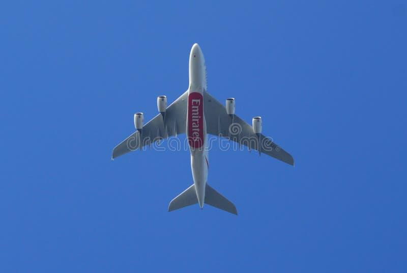 Emirats Airbus A380 images libres de droits