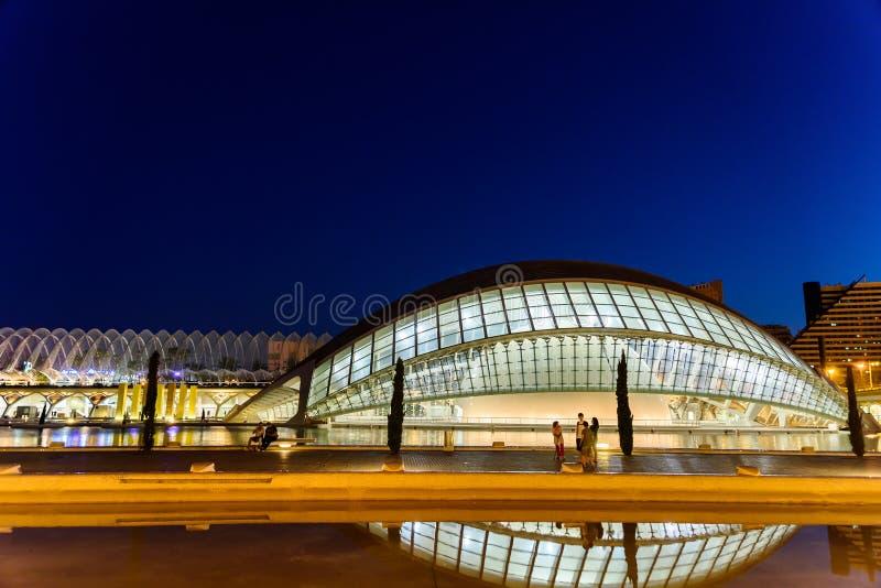 Emisferico delle arti della città delle arti e delle scienze fotografie stock libere da diritti