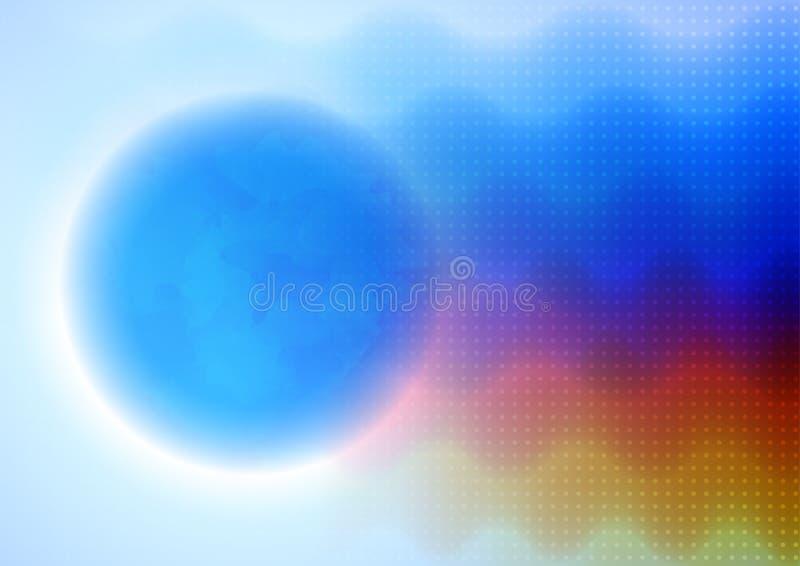 Emisión ondulada abstracta libre illustration